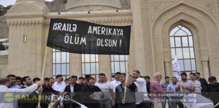 AZERBAYCAN POLİSİ KUDÜS GÜNÜ'NÜ KUTLAYAN MÜSLÜMANLARA SALDIRDI