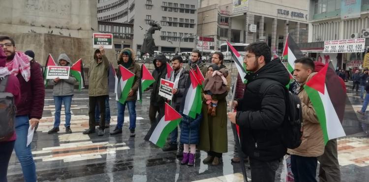 BDS TÜRKİYE ANKARA'DA YÜZYILIN ANLAŞMASINI PROTESTO ETTİ (FOTO)
