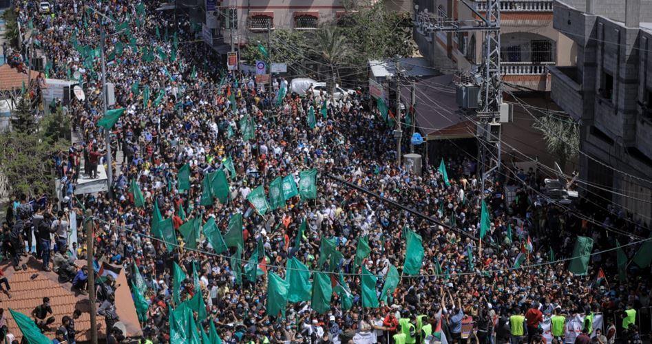 GAZZE HALKI SEÇİMLERİN ERTELENMESİNİ PROTESTO ETTİ