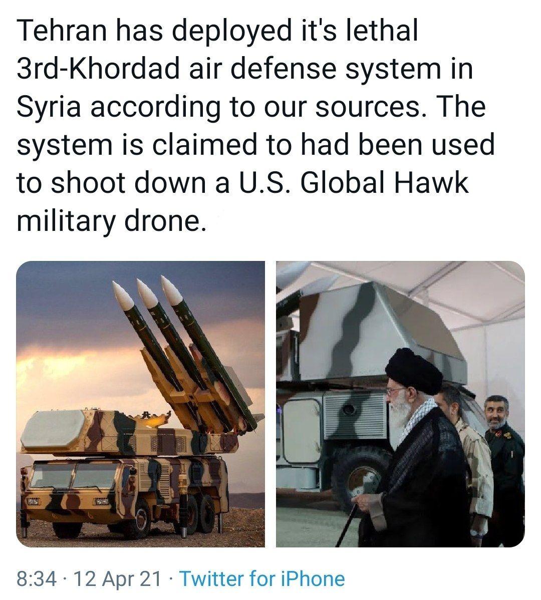 İRAN SURİYE'YE HORDAD-3 HAVA SAVUNMA SİSTEMLERİNİ KONUŞLANDIRDI MI?
