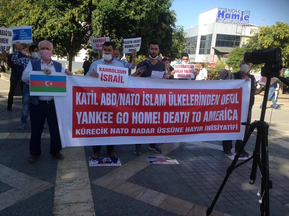 MALATYA'DA NATO'DAN ÇIKILSIN ÜSLER KAPATILSIN FERYADI YÜKSELDİ VE AZERBAYCAN'A DESTEK VERİLDİ (VİDEO-FOTO)