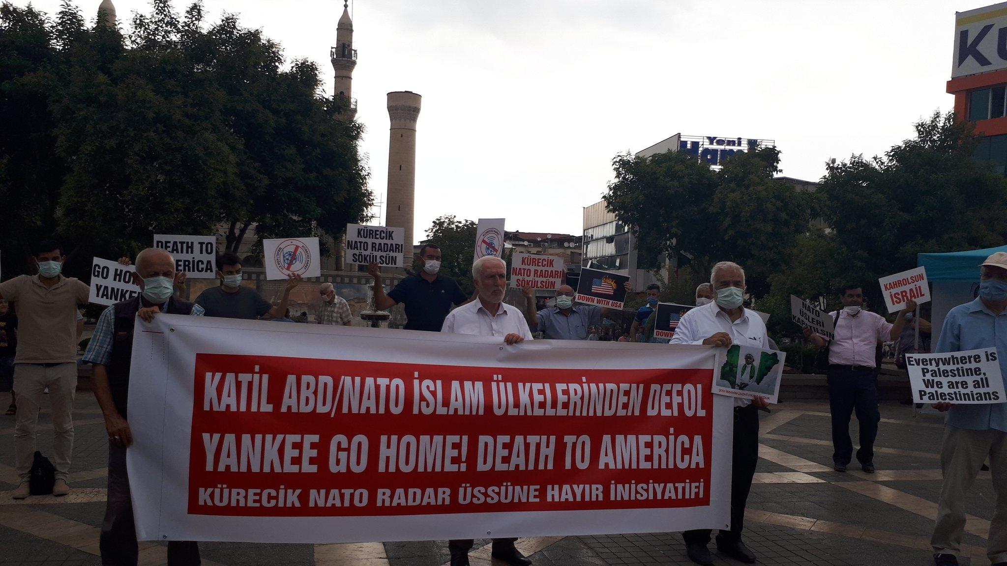 MALATYA'DA NATO'YA VE ÜSLERİNE HAYIR EYLEMİ DÜZENLENDİ/SİYONİST İSRAİL'İN LÜBNAN'A YÖNELİK SALDIRISI TELİN EDİLDİ (VİDEO-FOTO)