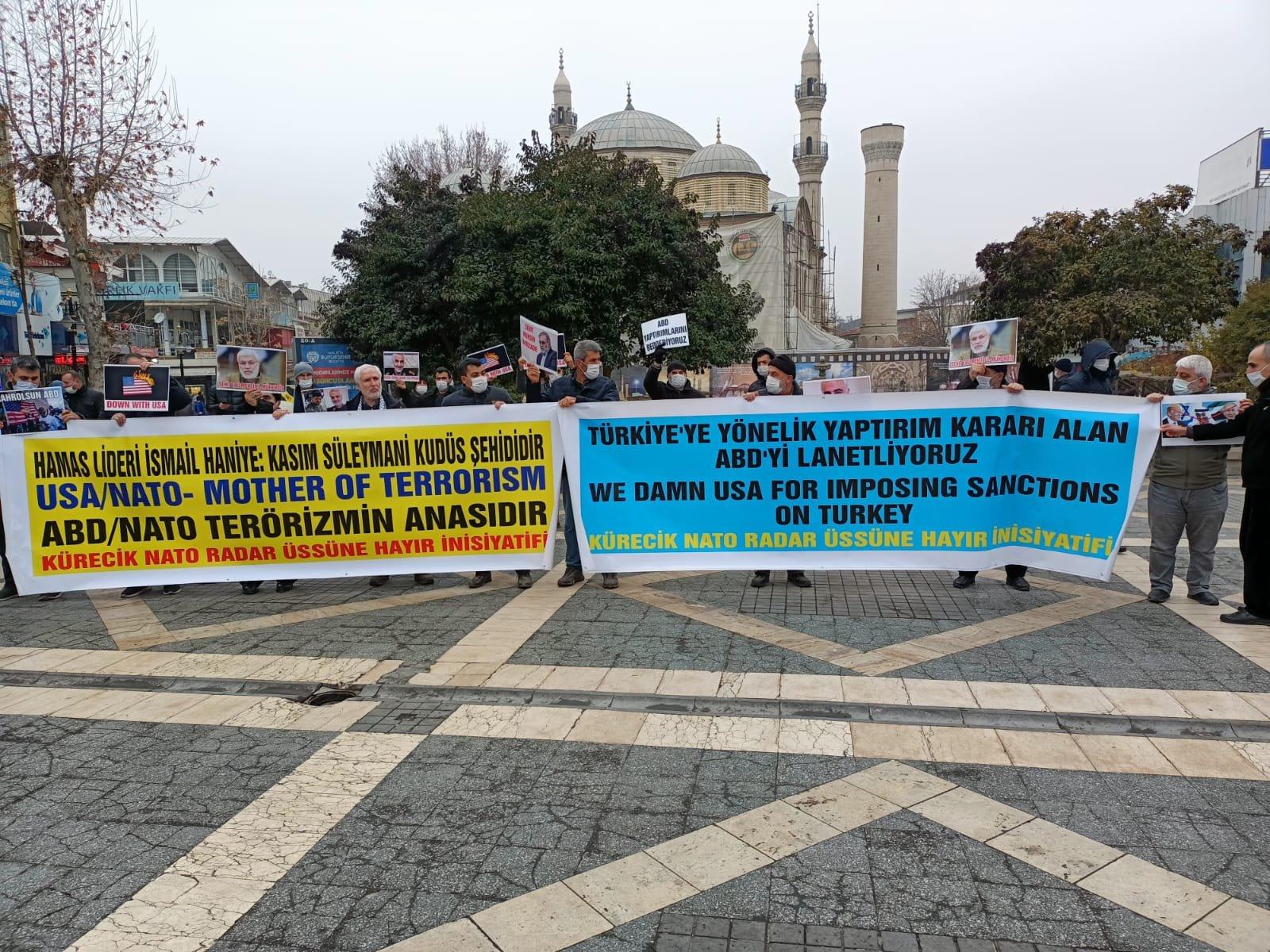 MALATYA'DA TERÖRİST NATO VE KATİL ABD PROTESTO EDİLDİ/KUDÜS ŞEHİTLERİ ANILDI (VİDEO-FOTO)