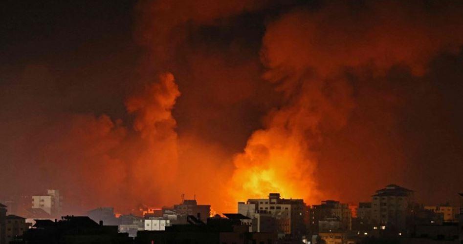 SİYONİST REJİM SAVAŞ UÇAKLARI GAZZE'Yİ BOMBALADI