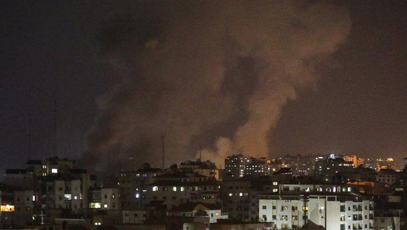 TERÖRİST İSRAİL GAZZE'YE HAVA SALDIRISI DÜZENLEDİ
